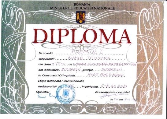 diploma made for EU nationala